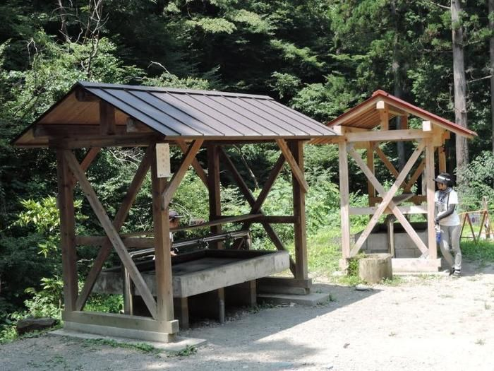 日影沢キャンプ場の水場の様子