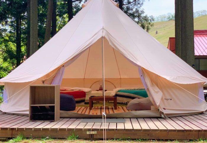 若杉高原おおやキャンプ場のグランピング