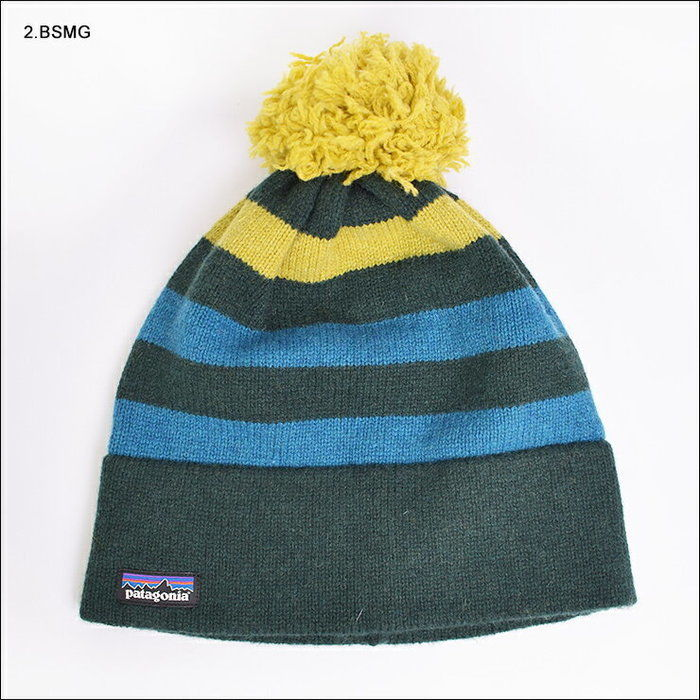 パタゴニアのボーダーニット帽