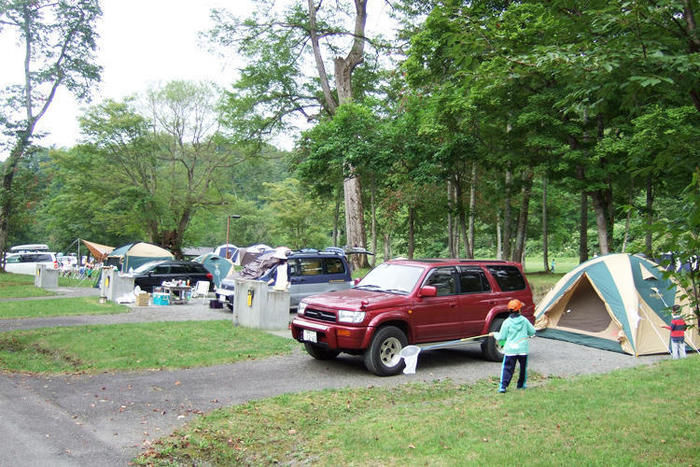 道民の森一番川地区キャンプ場のオートキャンプ場の写真