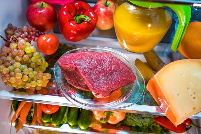 冷蔵庫に入っている食材の写真