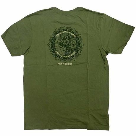 パタゴニアのグリーンTシャツ