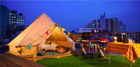 シモキタテラスのテント