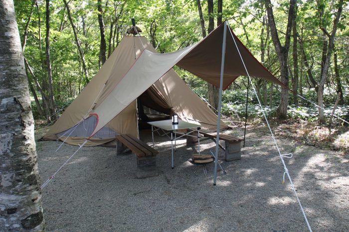 エンゼルフォレスト那須白河の常設テントの様子