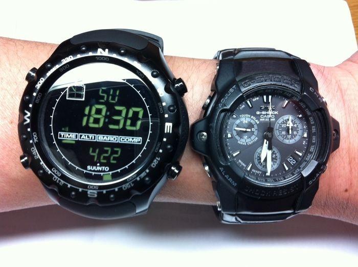 腕時計をつける腕