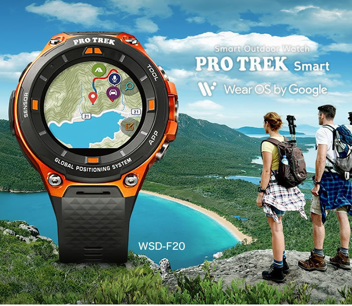 PROTREK Smart WSD-F20と男女のイメージ画像