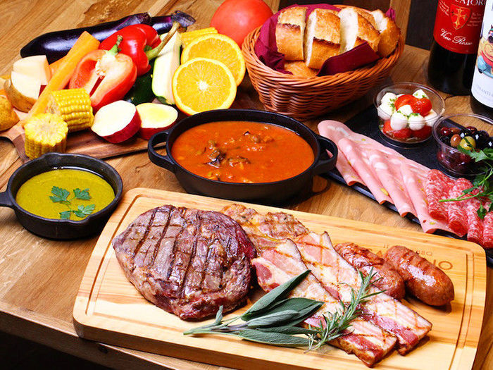 イタリアンバーベキューの食材