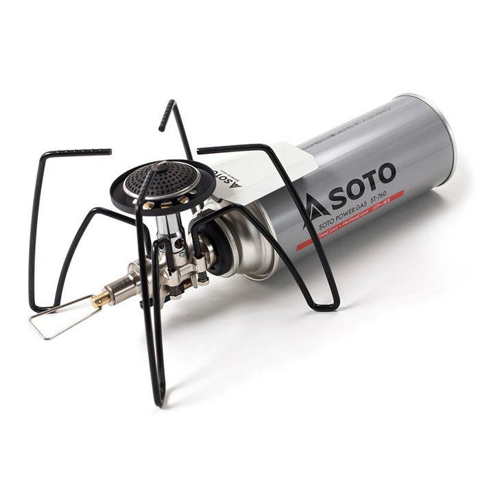 SOTOのロゴが入ったレギュレーターストーブ