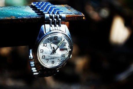 SEIKOの時計が飾られている様子