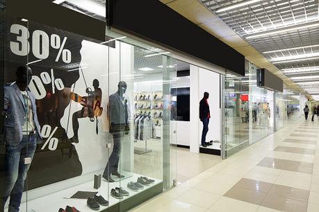 ショッピングモールのショーケースの写真