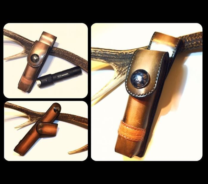ジェントスのおしゃれな革製ライトケース