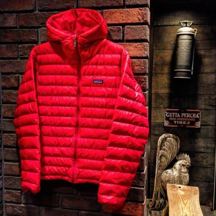 パタゴニアの赤いダウンジャケット