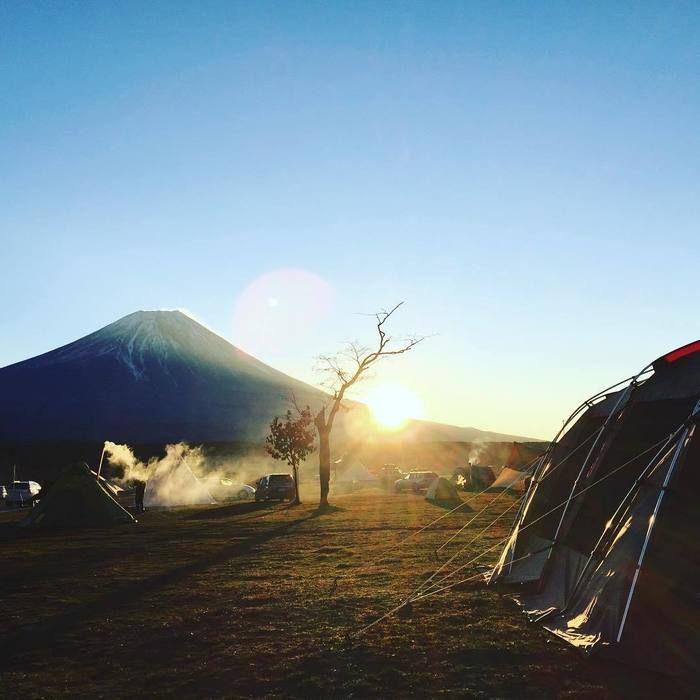 ふもとっぱらキャンプ場の冬