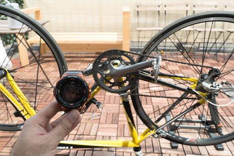 プロトレックスマートと自転車