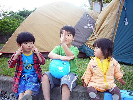 九十九里浜シーサイドオートキャンプ場の子供の様子