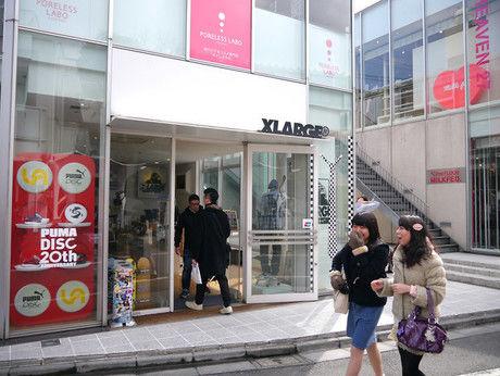 XLARGEの店舗の様子