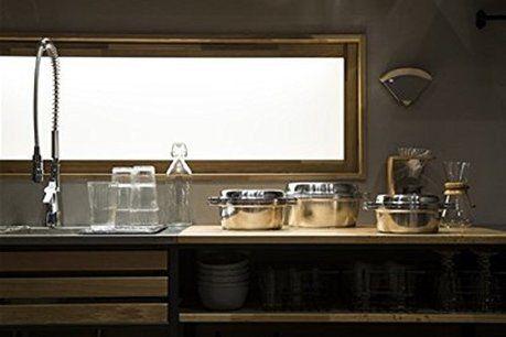 キッチンに鍋が置いてある写真