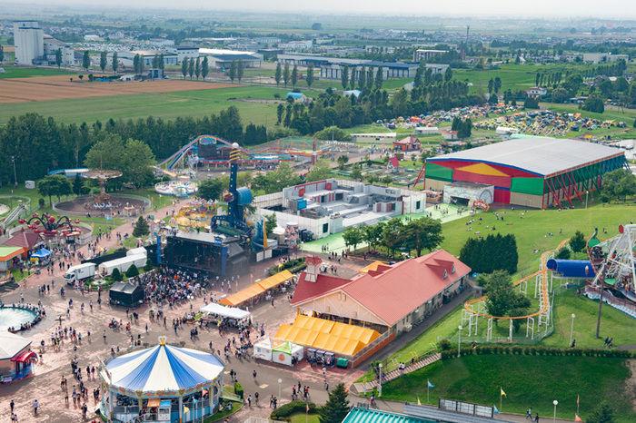 フェス会場の上空写真