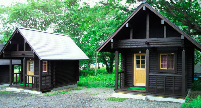 戸隠キャンプ場のログキャビン