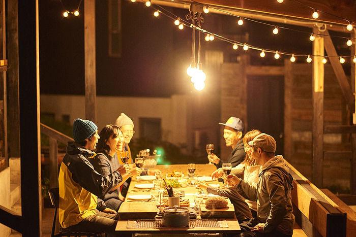 INN THE PARKの食事風景