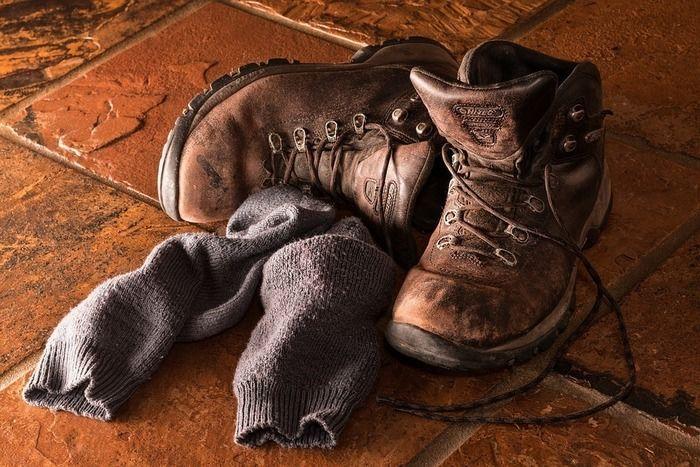 トレッキングシューズと靴下