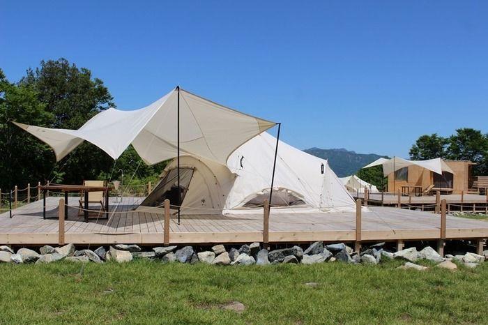 FIELD SUITE HAKUBAのグランピングテント