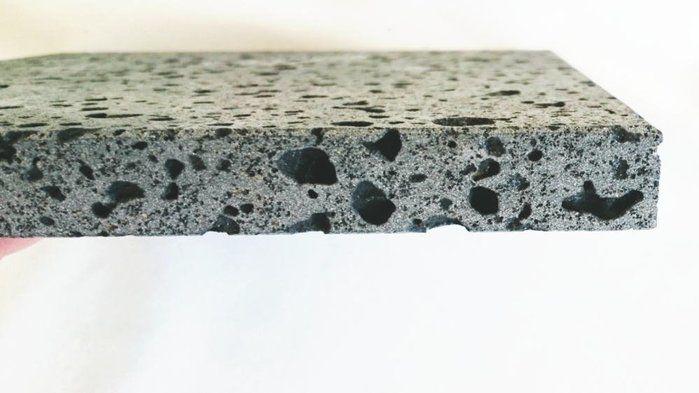 溶岩プレートの断面