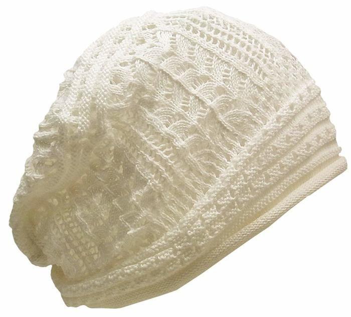 レディース用白のニット帽
