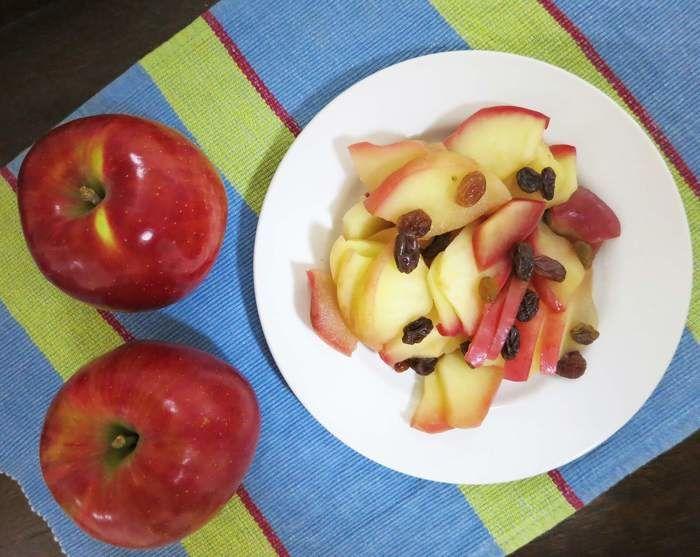 りんごとトッピング