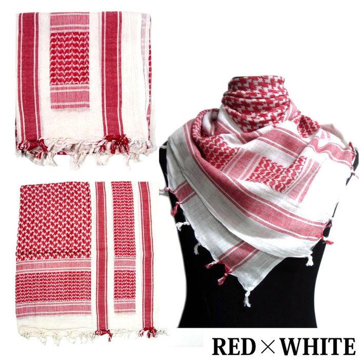 赤と白のシュマグ