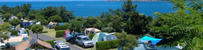 赤礁崎オートキャンプ場の様子
