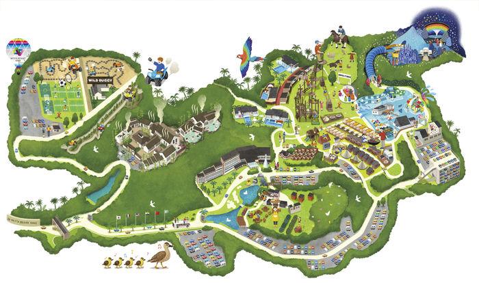 ネスタリゾート神戸のマップ