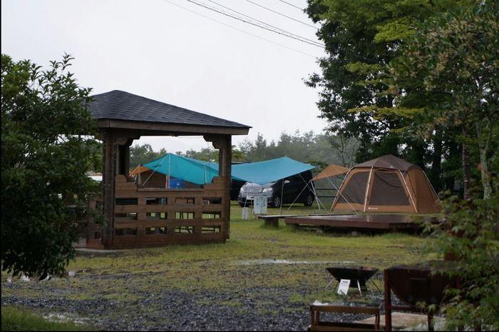 西山高原キャンプ場のテントサイトの写真
