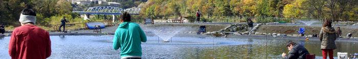 ウォーターパーク長瀞での釣りの様子