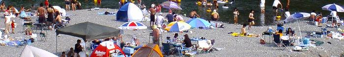 ウォーターパーク長瀞でのデイキャンプの様子