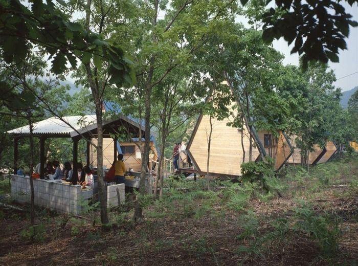 のとろ原キャンプ場の炊事場の写真