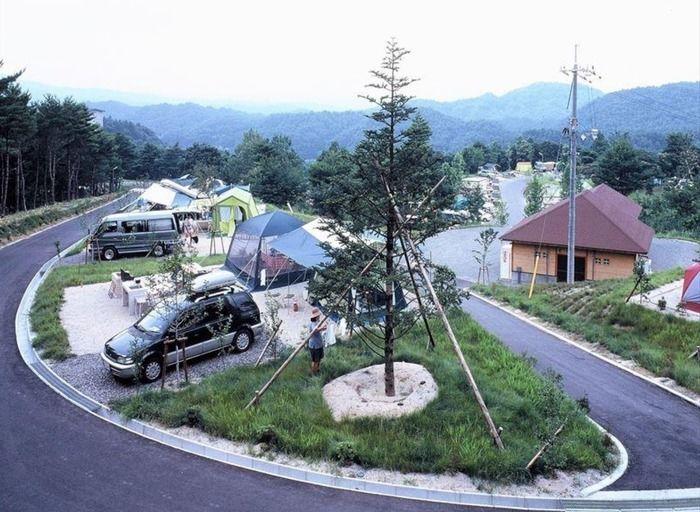 津黒高原キャンプ場のキャンプサイトの写真