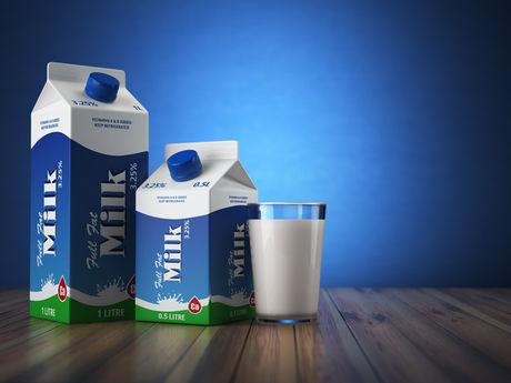 牛乳と牛乳パック