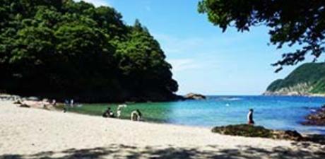 休暇村竹野海岸のプライベートビーチ