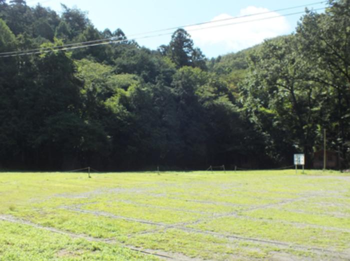 嵐山渓谷月川荘キャンプ場のテントサイト