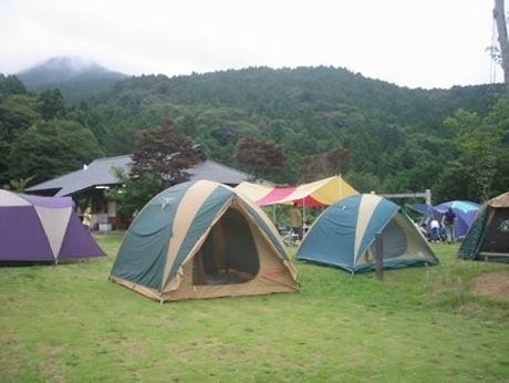 つくばねオートキャンプ場のキャンプの様子