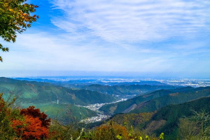高尾山から眺めの写真