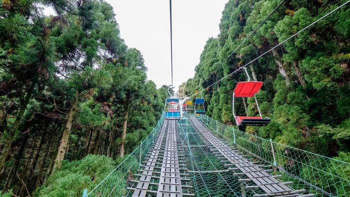 高尾山のリフトの写真