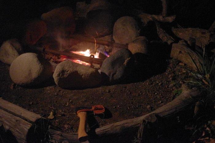 くりの木キャンプ場の石炉の様子