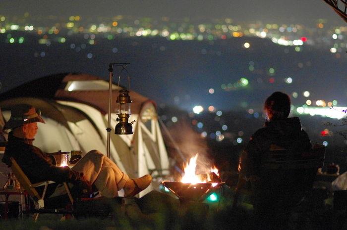 くりの木キャンプ場の夜の様子