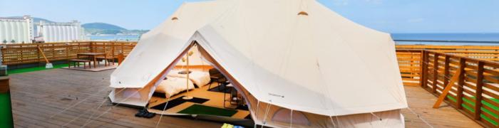 Wing Bay Camp Garden 海と空のテント