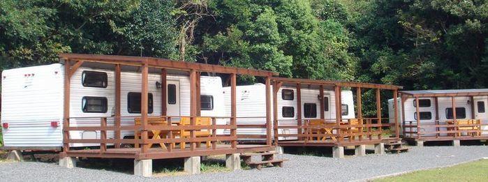 志摩オートキャンプ場のキャンピングハウスの写真