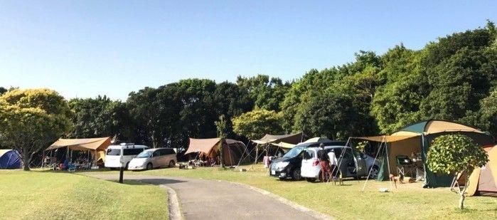 志摩オートキャンプ場のテントサイトの写真