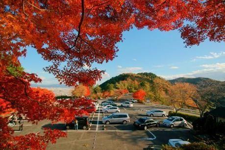 小倉山カフェからの眺望