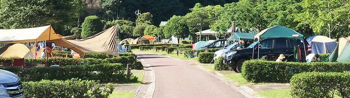 孫太郎オートキャンプのオートキャンプの様子